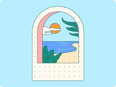 window view branding design 2d illustration flat