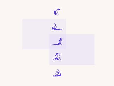 yoga print vector branding 2d flat illustration