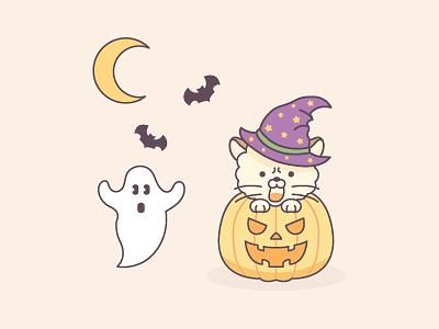 October calendar design flat 2d illustration