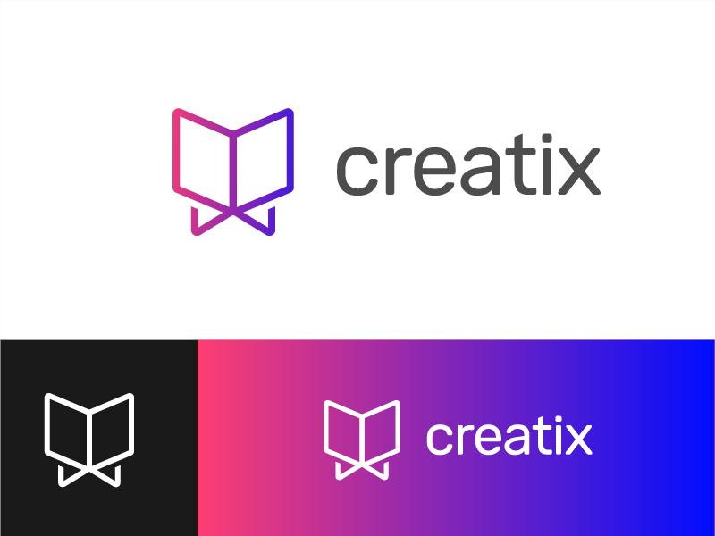 Creatix Logo vivid gradient perspective x creatix logo