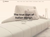 Dedalo Website Homepage