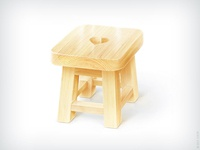 lacquered stool