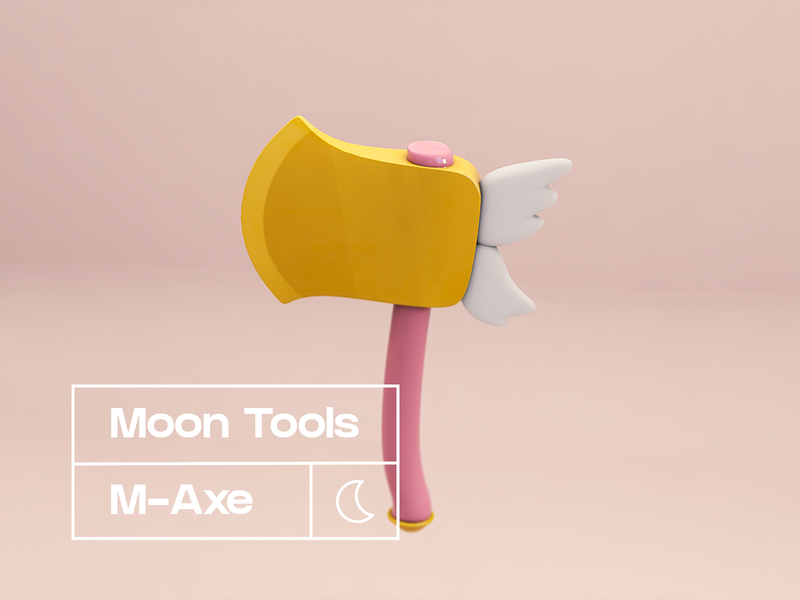 Magical Axe rose gold pink 3d sailor moon tool tools magical axe acnh