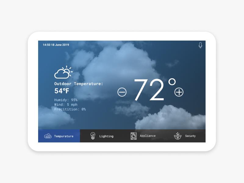 DailyUI007 Temperature setting design smarthome ui design dailyui007 dailyui ui