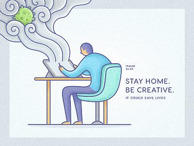 Isaiah 26:20 design character vector illustration dribbble drawing