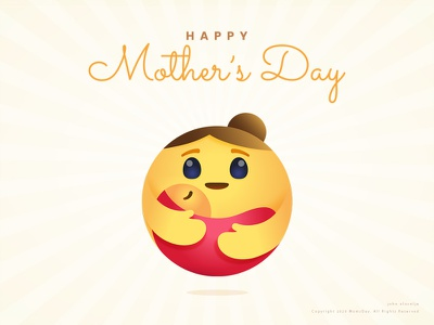 Happy Mother's Day mothers cute design mascot vector logo character illustration dribbble drawing