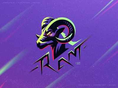 Ram (For Sale) illustrator goat ram adobe esports adobe illustrator design mascot vector logo drawing illustration character dribbble