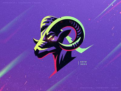 Ram (For Sale) animal goat ram adobe illustrator cute design mascot vector logo drawing character illustration dribbble