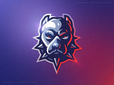 pitbull (For Sale) mascot character cartoon esports sports drawing dribbble illustration vector logo character mascot head dog bully pitbull