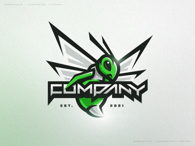 Hornet (For Sale) vector logo character illustration dribbble drawing esports mascot greens sports green bee wasp hornet