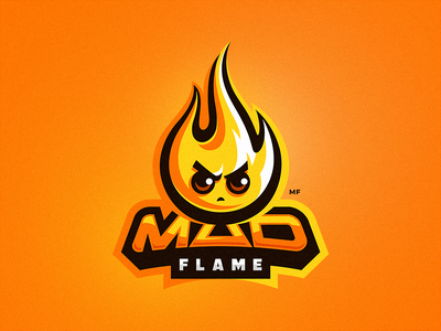 Mad Flame mad flame vector mascot logo illustration dribbble drawing character
