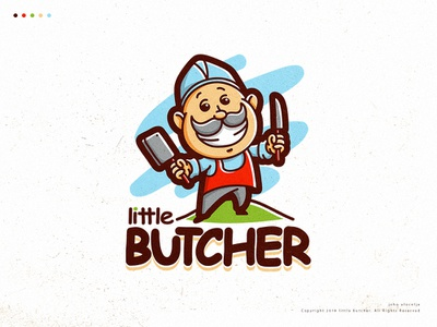 Little Butcher cute butcher little design vector mascot logo illustration dribbble drawing character