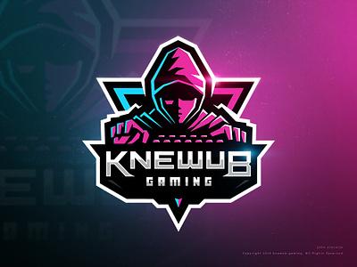 Knewub Gaming game gaming sports esports vector mascot logo illustration dribbble drawing character