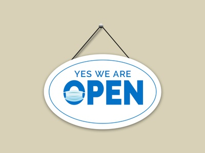 yes we are open graphic design simple adobe photoshop design vector