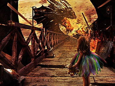 Face Your Fears photoshop digital illustration image manipulation concept fears
