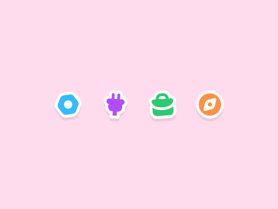Some fun stickery icons fun stickers webdesign icon set ui design iconography icon icon design