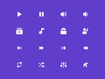 Music Icons Reversed