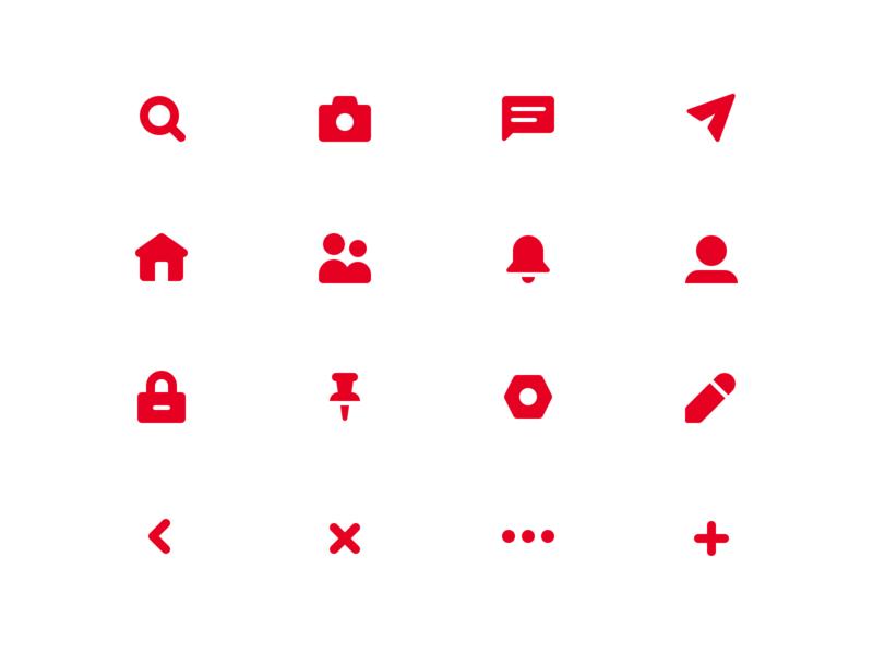 Pinterest Icons Concept app ui icon icon design icon set iconography