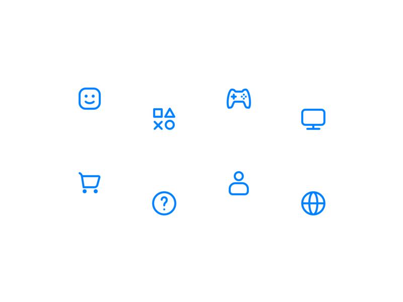 Playstation Menu Icons (Exploration) ui icon set iconography icon design icon
