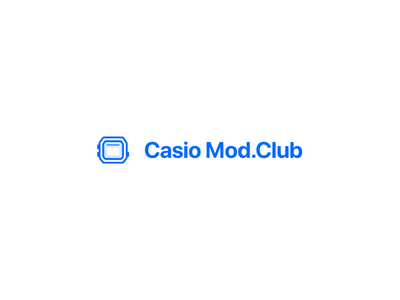 Casio Mod.Club Icon/Type Treatment logo design iconography icon