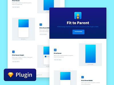👨👦 Fit To Parent Sketch Plugin netlify nextjs free plugin download freebie interface design landing page front end development ui web design sketch plugin