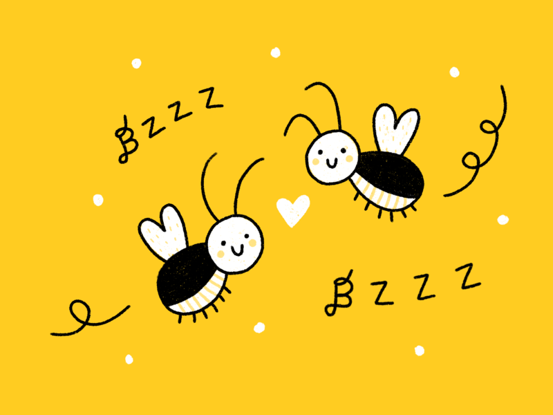 Bzzzzzzzzzz childrens illustration happy cute procreate ipadpro drawing illustration
