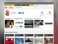 Qwant, Profile page