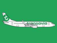 boeing 737-800 by Transavia
