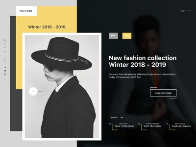 Hello Dribbble design website concept branding web ux ui typography landing page site fashion website