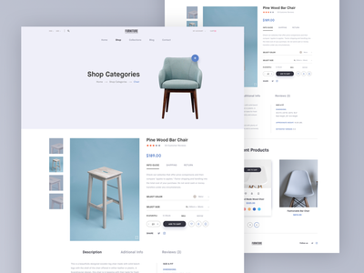 Furniture store | Product page clean web design user center design store e-commerce furniture shop branding design webpage typography layout interface design landing page ux web website ui site