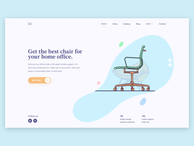 Hero concept web design office shop branding interface design clean design color layout webpage ux vector artwork character vector illustration typography landing page web ui website site