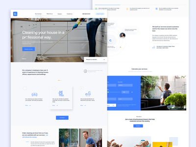 Cleaning company | Homepage services design cleaning company website color icon branding interface design clean design web design layout typography webpage ux web landing page website ui site