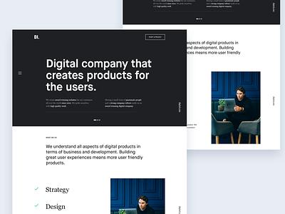 Digital Agency design services page hero design clean design digital agency design interface design web design layout typography webpage landing page ux web website ui site