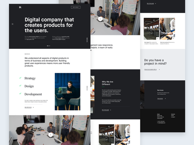 Creative agency   Homepage