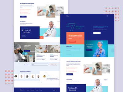 Clinic Website | Homepage branding interface design clean design web design typography design layout webpage ux web ui site landing page homepage clinic website template medical services webpage website design website