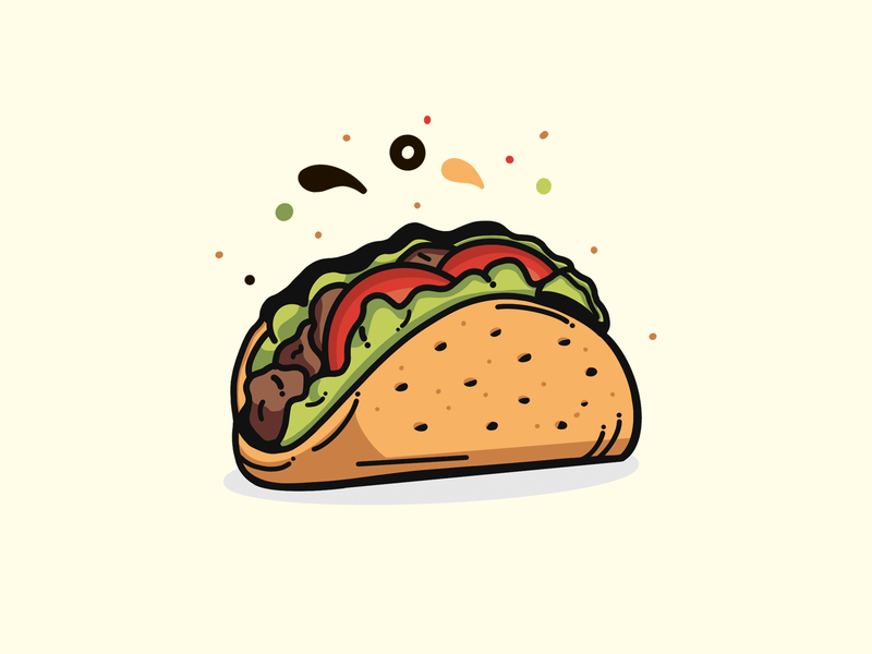 Let's Taco logo daniel pin hand drawn gradient food vector artwork color line art illustration graphic design flat design character design taco icon flat illustration graphics vector illustration web