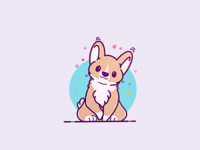 Cute and lovely happy face color graphic design icon sticker design pin cute illustration web vector artworks dog graphics hand drawing line art drawing flat illustration style vector art cartoon character design logo vector illustration