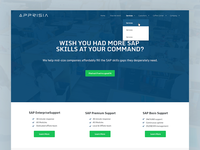 Homepage Redesign of tech company