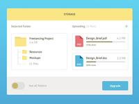 Files Manager widget