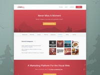 Never miss a moment - landing page