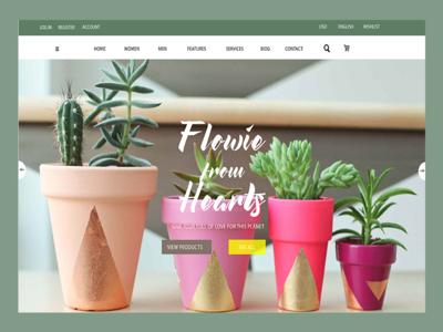 Small plants web landing page.