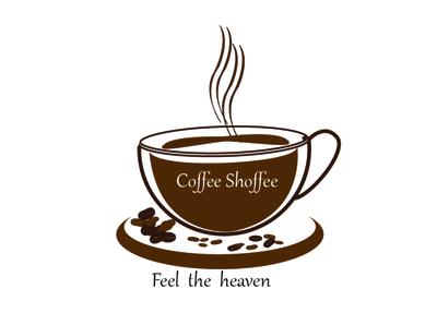 Coffee shoffee logo .