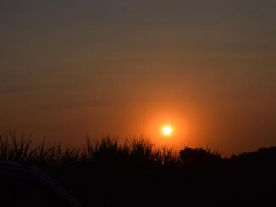 Sun set.
