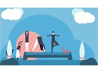 Aerobics Illustration.