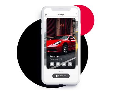 Carvis cards incomes expences car logo fuel car branding icon ux devices ios ui sketch app interface design
