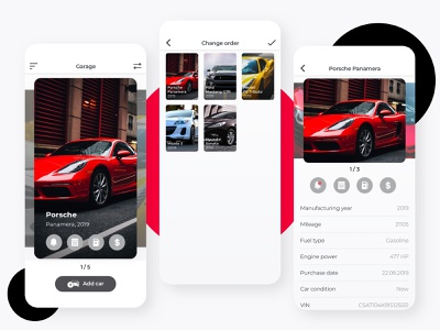 Carvis fuel statistic incomes expences car branding ux devices ios ui sketch app interface design