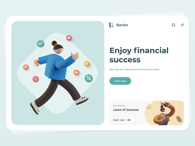 Banko 3d branding illustration ux devices ios app sketch interface ui design
