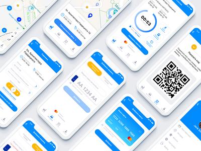 """Redesign """"Parking UA"""" vector ux logo illustration sketch devices blue ui interface design app"""