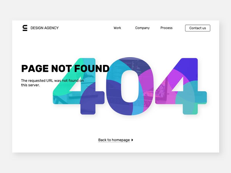 404 page web typography branding vector sketch ui interface design