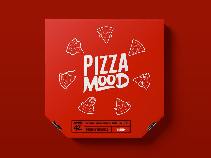 Pizza Mood vector design illustration reunion island foodlogo branding and identity branding logodesign logo design logoconcept food logo foodie